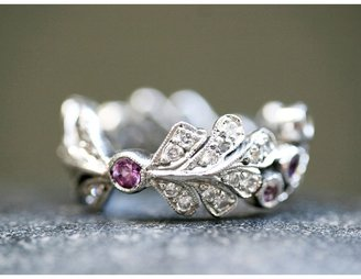 Cathy Waterman Pink Sapphire Berry Leaf Band - Love Of My Life Collection