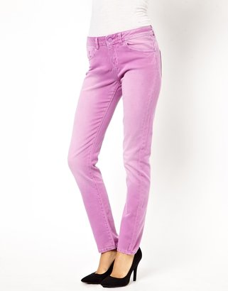 Asos Elgin Supersoft Skinny Jeans in Washed Peony