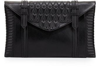 Hudson Reece Bowery Oversized Leather Clutch Bag, Black