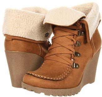 UNIONBAY Hike Lace Wedge Boot (Chestnut) - Footwear
