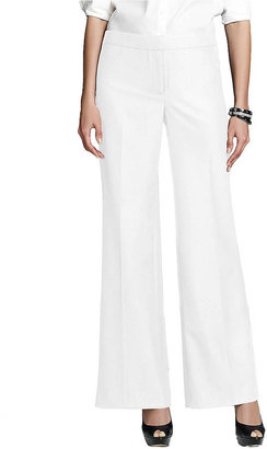 Jones New York Collection Wide Leg Button Front Pants