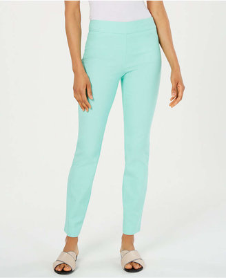 Charter Club Petite Cambridge Tummy-Control Slim-Leg Pants