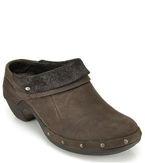 Merrell Luxe Wrap - Brown Leather Clog