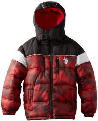 U.S. Polo Assn. U.S. Polo Association Boys 8-20 Color Block Puffer Jacket