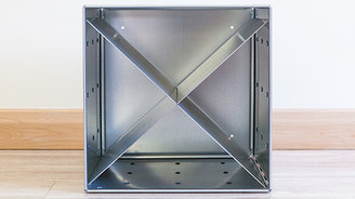 Container Store Steel Cube Wall Galvanized