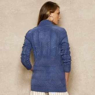Ralph Lauren Blue Label Shawl-Collar Toggle Cardigan