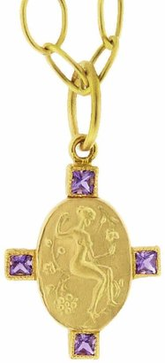 Cathy Waterman Goddess Muse Amethyst Charm