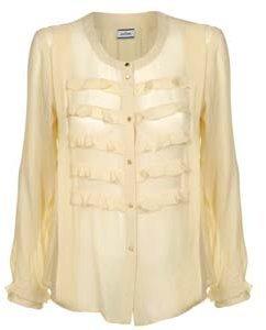 By Malene Birger Silk Gold Button Blouse
