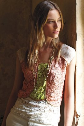 Anthropologie Patchwork Lace Shell