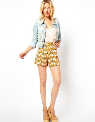 Asos Art Deco Floral Shorts