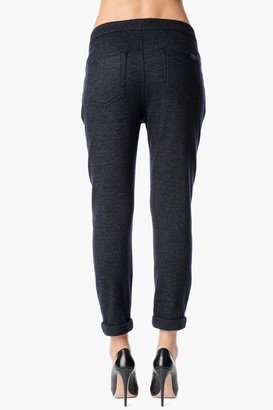 7 For All Mankind Slant Zip Soft Pant In Navy Wool