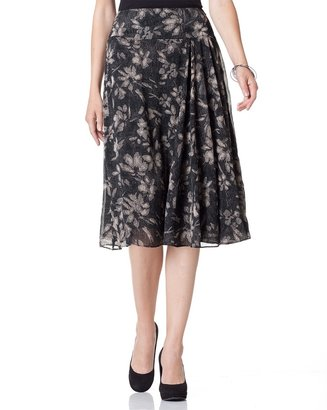 Coldwater Creek Etched floral skirt