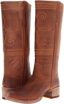 Stetson Rustic Round Toe Stovepipe Boot (Rustic Brown) - Footwear