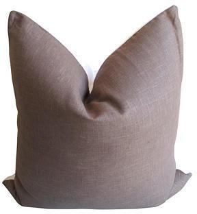 Fragments for Neiman Marcus Identity Cocoa & White European Linen Pillow