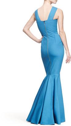 Roland Mouret Orpheus Folded One-Shoulder Gown