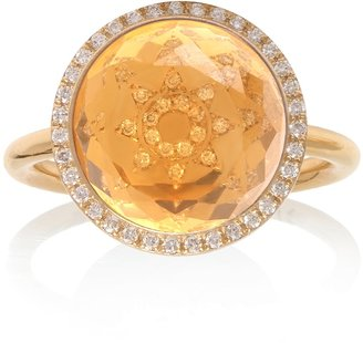 Noush 14ct Yellow Gold Diamond And Citrine Sunshine Ring