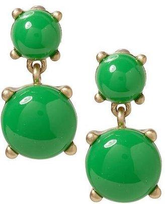 Pim + Larkin Green Cabochon Drop Earring