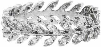 Cathy Waterman Small Diamond Wheat Ring Band - Platinum Ring