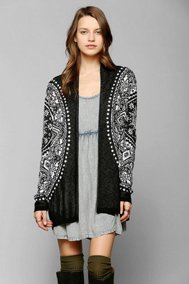 Urban Outfitters Staring At Stars Sunburst Open-Front Cardigan