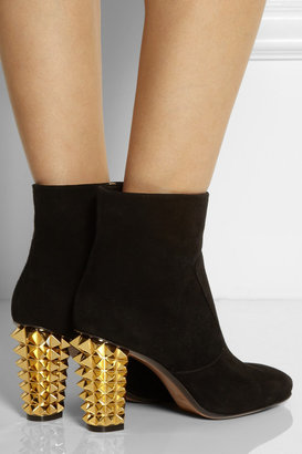 Fendi Studded suede ankle boots