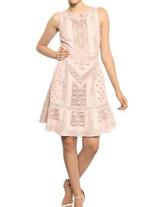 Valentino Cotton Guipure Carrè Dress