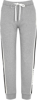 Moncler Grey Striped Cotton-blend Sweatpants