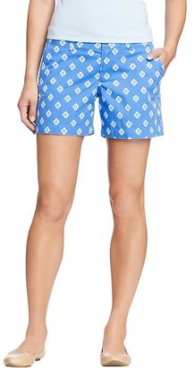"""Old Navy Women's Printed-Twill Shorts (5"""")"""