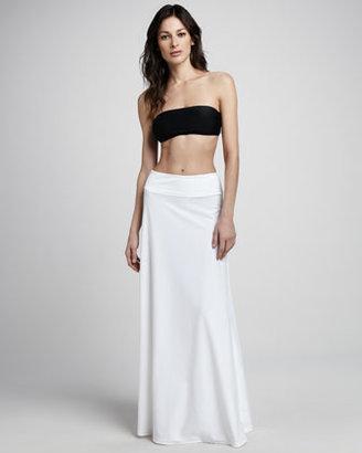 Cover Banded Maxi Skirt, White