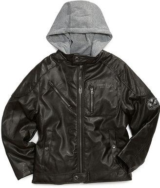 Hawke & Co Kids Jacket, Little Boys Hooded Motorcycle Jacket