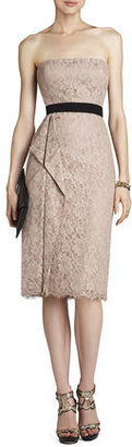 BCBGMAXAZRIA Alexandra Strapless Dress With Side-Drape