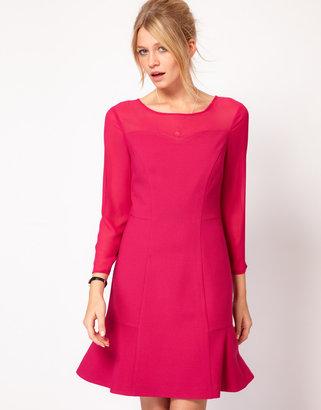 Oasis Sheer Sleeve Dress