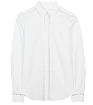 Chloé COTTON SHIRT WITH CROCHET DETAIL