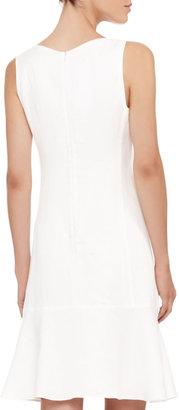 Armani Collezioni Sleeveless Linen Flare-Hem Dress