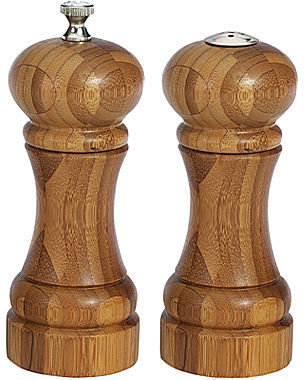"William Bounds 5"" Bamboo Mill and Shaker Set"
