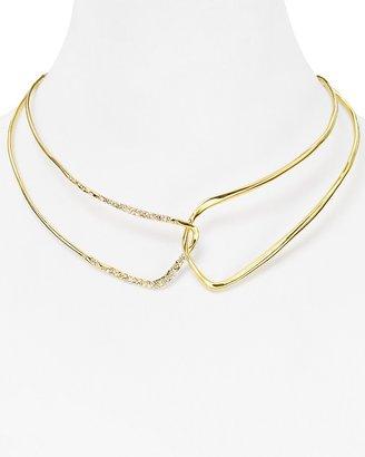 "Alexis Bittar Liquid Gold Collection Open Collar Necklace, 16"""