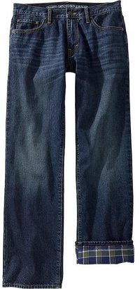 Old Navy Men's Flannel-Lined Straight-Leg Jeans
