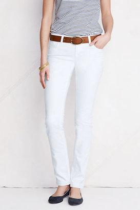 Lands' End Women's Petite Fit 1 Slim Leg White Jeans