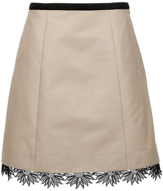 Valentino Lace trim skirt