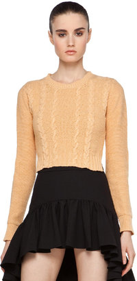 Opening Ceremony Cable Pullover in Peach