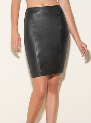 GUESS Faux-Leather Pencil Skirt