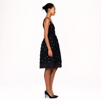 J.Crew Collection leather-organza flower dress