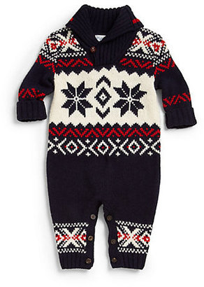 Ralph Lauren Infant's Knit Fair Isle Coverall