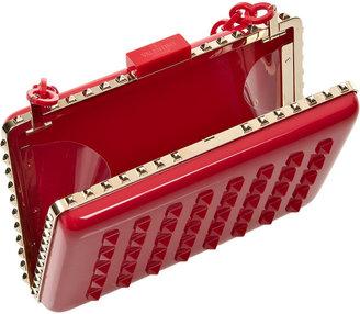 Valentino Studded PVC clutch