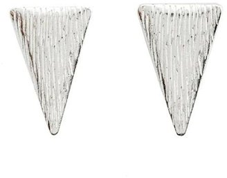Charlotte Russe Etched Triangle Stud Earrings