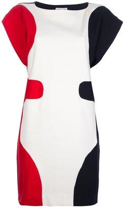Tsumori Chisato tri-colour print dress