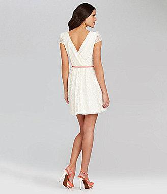 Gianni Bini Bella Cap-Sleeve Lace Dress