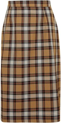 Unbranded St Joseph's College Girls' Tartan Skirt, Brown/Multi