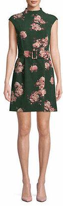 Marella Mock Neck Floral Dress