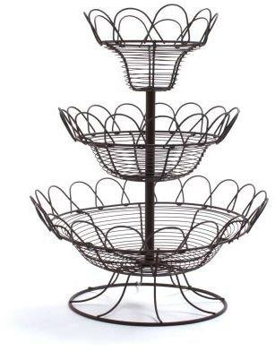 Sur La Table Three-Tier Fruit Basket Stand