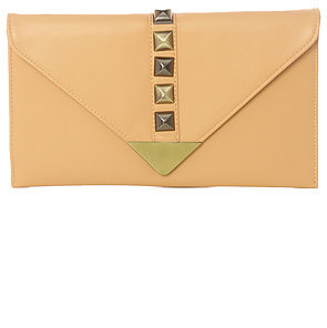 Street Level The All Night Envelope Clutch in Nude
